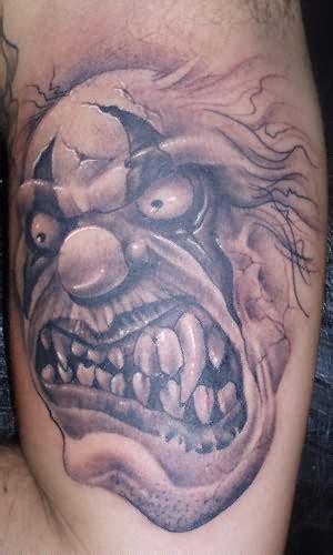 clown face tattoo clown tattoos page 7