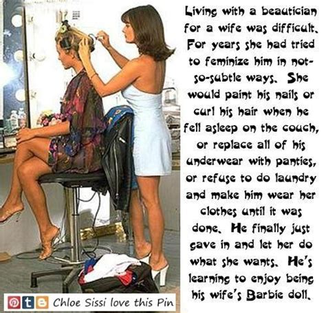 the feminization of my husband the 71 best images about tg captions hair and makeup on