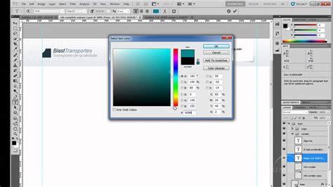 criando layout web no photoshop criando um site do zero vol 2 aula 1 criando layout no
