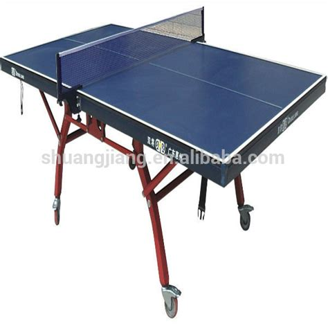 sj 323 folding ping pong table match played moving table