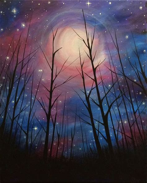 paint nite ukiah ca starry nights inspiration and bar on