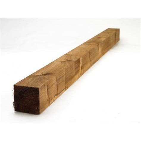 L Scape 2 4mtr Fence Post Treated Brown 100x100mm