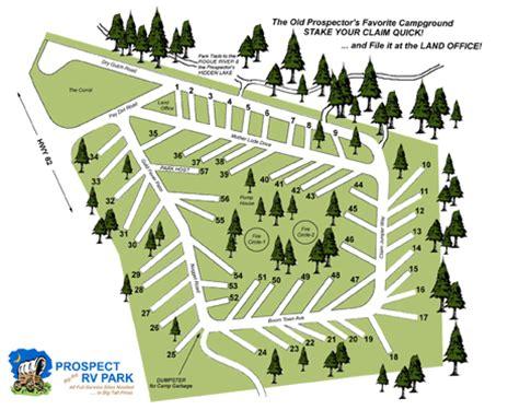 map of oregon rv parks prospect rv park prospect oregon park site map