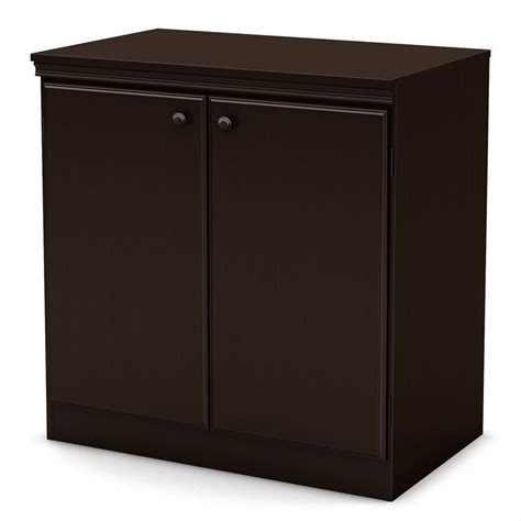 south shore transitional style storage cabinet in