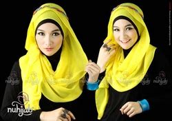 Gamis Qirani Fresh Diskon Qdf 26 plain shawl sifon ps2 baju muslim terbaru abiti moslem style