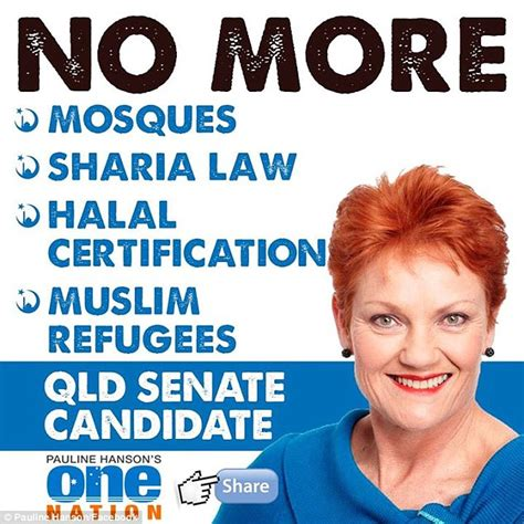 no more a muslim refugeeã s story of pauline hanson vows to end muslim intake mosques and