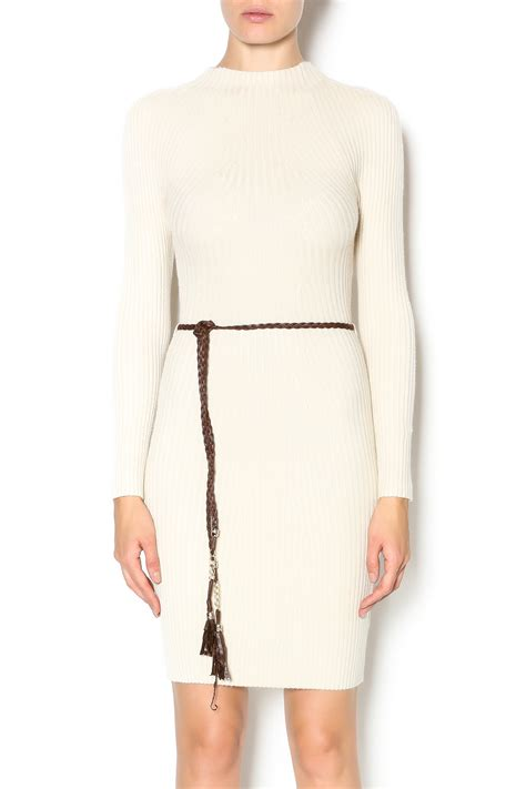 zero belted sweater dress from miami by l a roxx