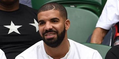 drake moon part haircut drake is at wimbledon and he s come dressed as a tennis ball