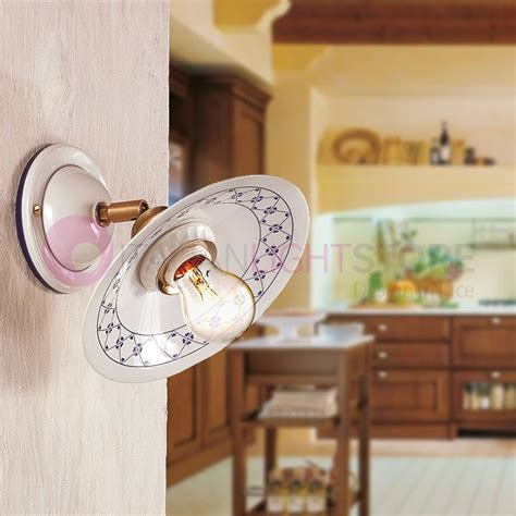 applique stile country applique lada a parete ceramica rustica country