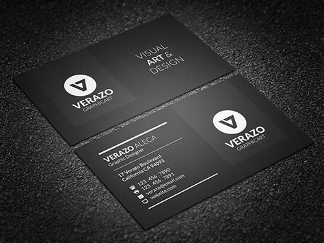 32 black business cards free printable psd eps word