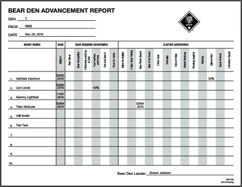 Bsa Attendance Report