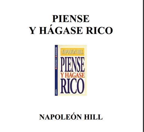 piense y hagase rico 9562914305 piense y hagase rico libro en pdf apuntes y monograf 237 as