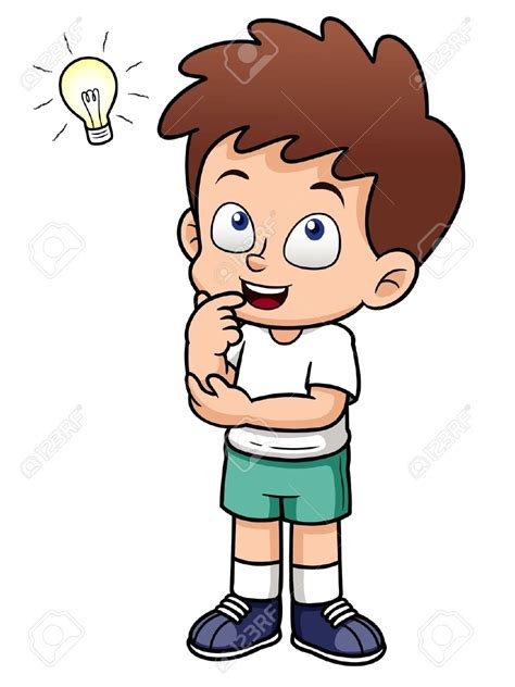 a child thinking clipart clipartxtras