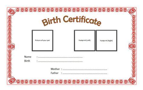 free pet birth certificate template pet birth certificate template 4 the best template