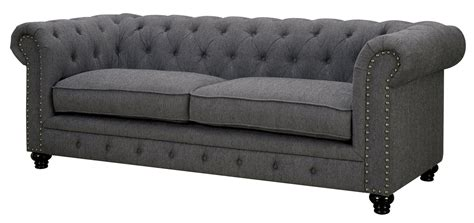 furniture of america sofa furniture of america import direct stanford cm6269gy sf