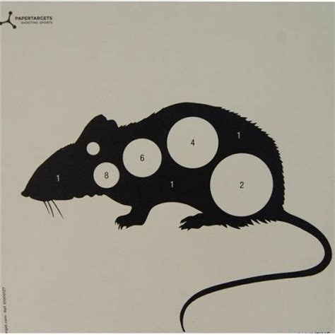 printable rat targets flip target 17cm square airgun shooting paper animals