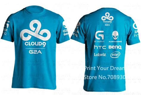 Baju Jersey Gaming Team Dota 2 25 lol gaming team cloud 9 c9 original design dota2