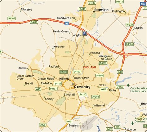 map uk coventry coventry map