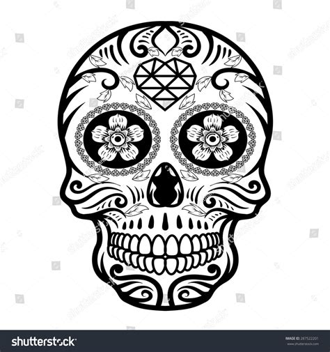 Day Of The Dead Skull Stock Vector Illustration 287522201 Day Of The Dead Skull Vector