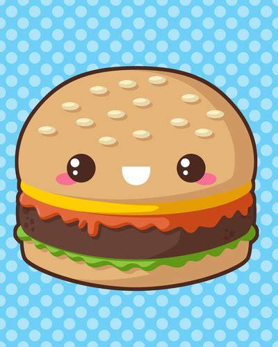 imagenes de comida con caritas kawaii hamburguesa dibujos pinterest kawaii dibujos kawaii