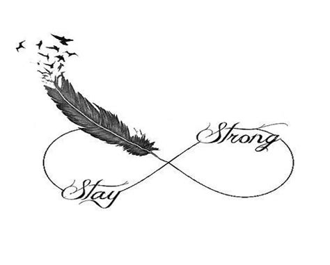 stay strong infinity tattoo stay strong idea ideas am i