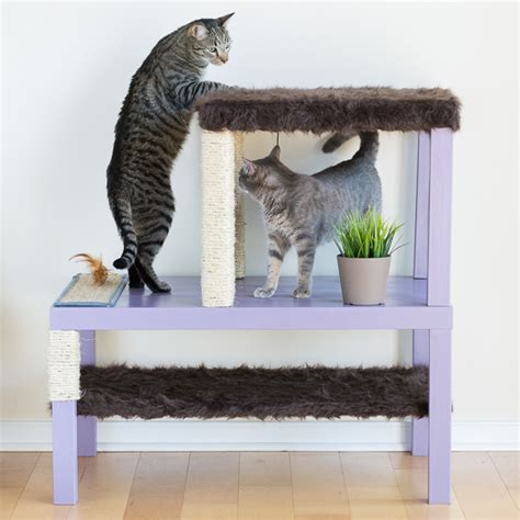 modern cat tree ikea modern diy cat scratcher post pretty handy girl