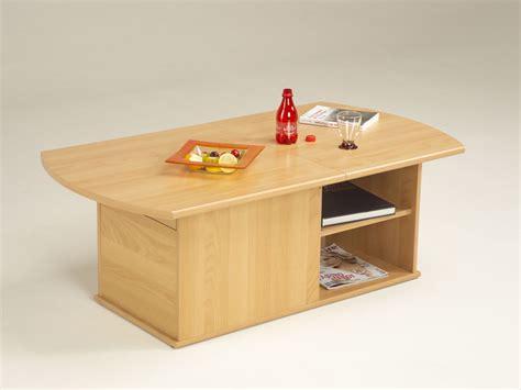 table basse ouvrable table basse quot moulin quot rectangulaire en panneaux de particules aspect poirier du japon