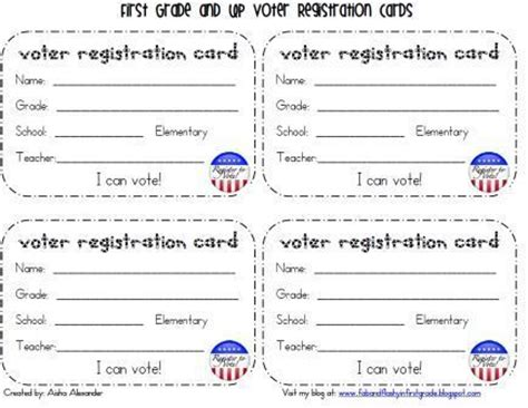 Registration Card For Voting Template by Quot Fab Quot And Flashy In Grade Presidental Election Goodies