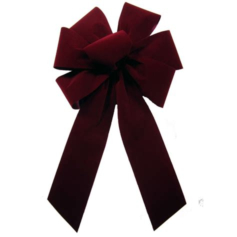 outdoor burgundy christmas bows outdoor velvet bows
