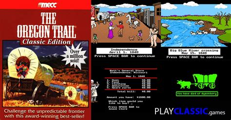 oregon trail game play    web browser