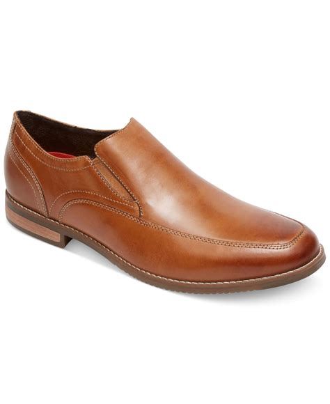 mens rockport loafers rockport stylepurpose loafers in brown for lyst