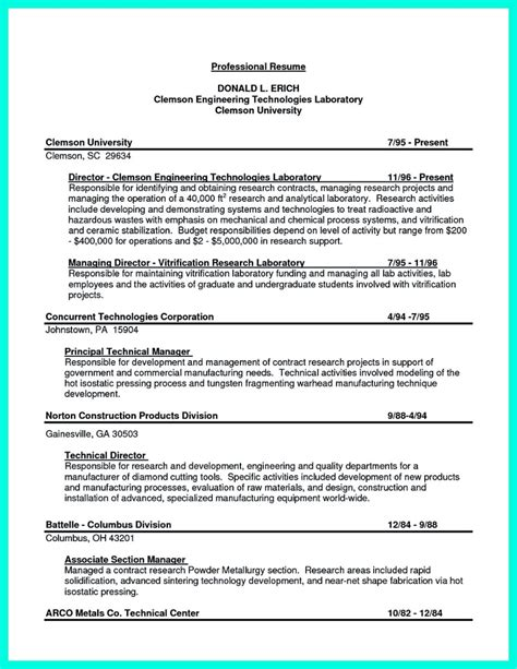 resume exles pdf engineering successful objectives in chemical engineering resume