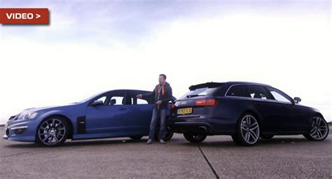 vauxhall vxr8 wagon battle of the wagons 552hp audi rs6 avant vs 610hp