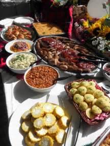 bbq buffet food