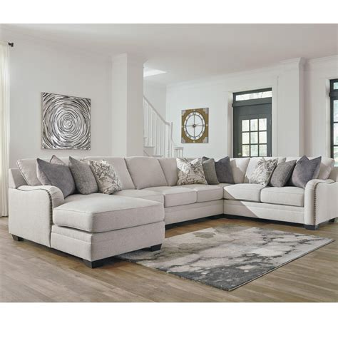 5 piece sectional sofa with chaise benchcraft dellara casual 5 piece sectional with left
