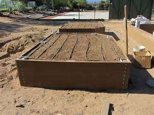 Self Watering Raised Garden Beds - how to build a trex 174 raised garden bed part two
