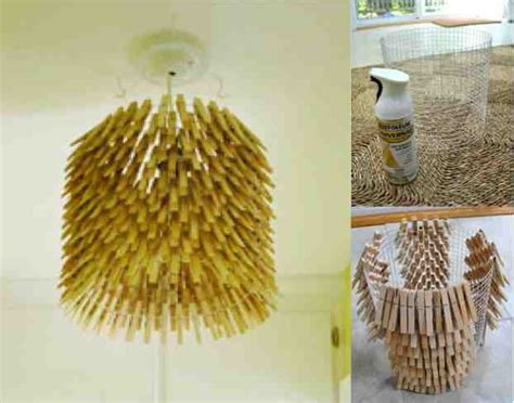 How To Make Chandelier How To Make A Clothes Pin Chandelier Do It Yourself Ideas