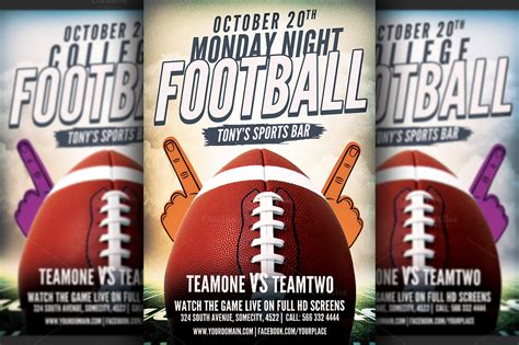 football flyer template american football flyer template flyer templates on