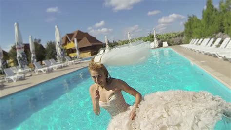 Wet bride Footage   Stock Clips