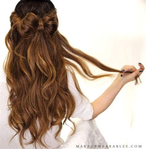 hairstyles for school down half up half down hair bow updo hairstyle for school