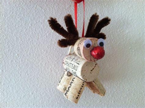 wine cork christmas ornaments reindeer or by
