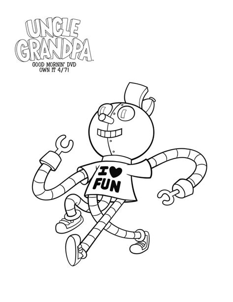 printable coloring pages uncle grandpa free printable tiny miracle uncle grandpa coloring page