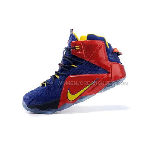 2nd Lebron Size 42 cheap nike lebron 12 opening pe second half blue yellow price 106 00