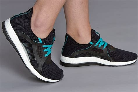 adidas womens pureboost x womens shoes black shock green black