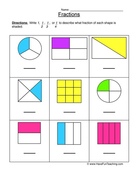 Fractions Worksheets 2nd Grade by Fractions Worksheet Halves Thirds Fourths