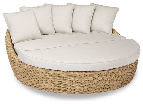 round sofa cushions leucadia round 2 piece daybed with cushions canvas flax