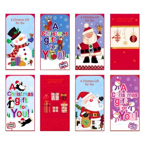 Gift Card Wallets - chistmas money wallets gift card wallet 4 pack