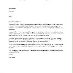 Professional Apology Letter For Not Attending An Event Formal Official And Professional Letter Templates