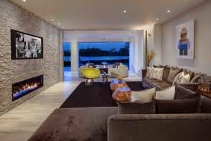 Stone Vase Stone Accent Wall Living Room Contemporary With Stone