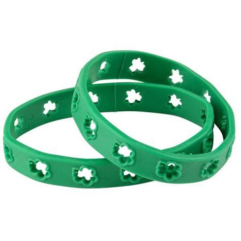 rubber st saying st s day cut out shamrock rubber bracelet